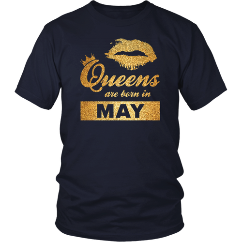 Black Queens are Born in May T Shirt May Birthday Girl