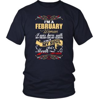 I'm A February Woman T-Shirt Birthday Gift Shirt