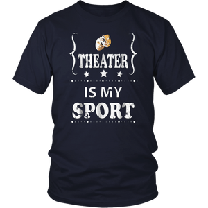 Theater is my sport distressed retro tshirt vintage design T-Shirt