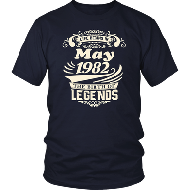 Life Begins In May 1982 - Legends T-Shirt