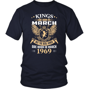 Kings Are Born In March - 1969 Birthday Gift T-Shirt