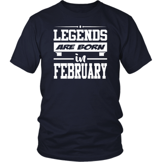 Girls' Ice Skating Legends are Born in February Gift T-Shirt