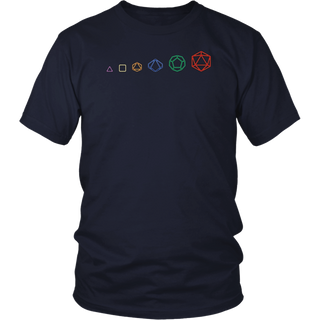 d20 Dice Evolution Role Playing T-Shirt Game Master Shirt