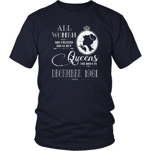 57th Birthday Gift Queens Are Born In December 1961 T-Shirt