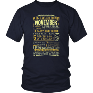 Scorpio Tshirt Kings are Born in November Scorpio Tshirt Men T-Shirt