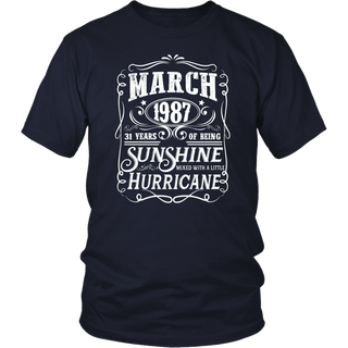 Legends Were Born In March 1987 - 31th Birthday Gift T-Shirt