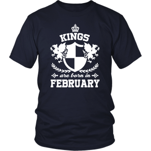 Kings Are Born In February Birthday On Feb t shirt