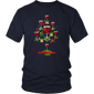 Christmas Xmas Wine Tree T-Shirt Gift For men women