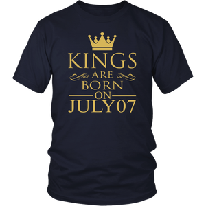 Kings are born on July 07 tshirt