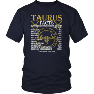 Taurus Facts Zodiac Sign T-Shirt