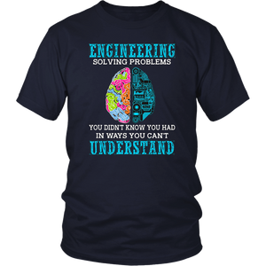 "Funny Engineering Shirt - ""Solving Problems"" - Engineer Gift T-Shirt"