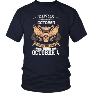 Real kings are born on October 4th T shirt