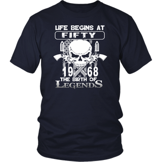 Life Begins At 50 1968 The Birth Of Legends T-Shirt