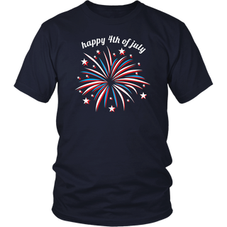 Cool Fireworks 4th of July Shirt for Women Kids Girls Family T-Shirt