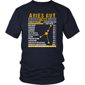 Aries Guy Facts - Awesome Zodiac Sign T-Shirt For Guys