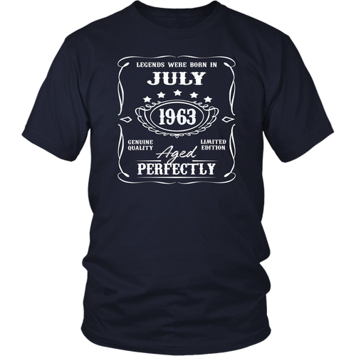 Legends were born in July 1963 t-shirt for 55th Birthday