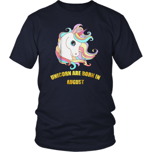 Unicorn Are Born in August T-Shirt By LDBuzz