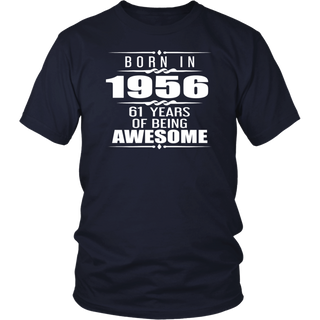 Born in 1956 61 Years of Being Awesome T-shirt