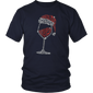 Wine Glass Christmas Gift Drinking Lovers Shirt