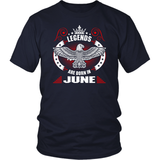 Legends Are Born In June Birthday T-shirt