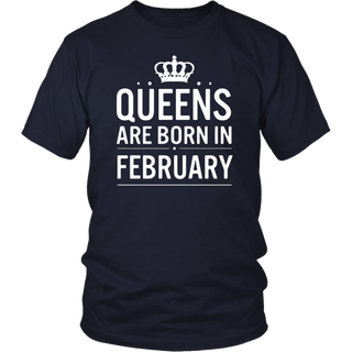Queens are born in february Tshirt Birthday Shirts For Women