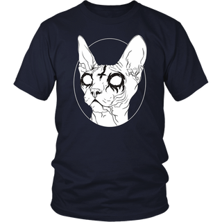 Black Metal Sphynx Cat I Goth and Death Metal T-Shirt