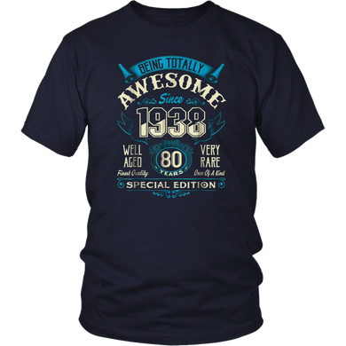 Vintage Born in 1938 80th Birthday 80 Years Old Awesome Gift T-Shirt