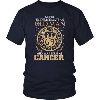 Old Man Are Born As Cancer Birthday June and July Shirt