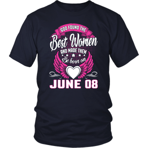 Real Queens Are Born On June 08 Birthday T-Shirt