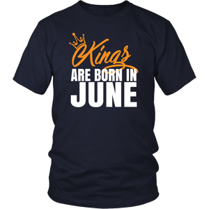 Black Kings Are Born In June Birthday Gift Shirt