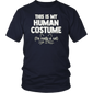 This Is My Human Costume I'm Really A Cat Funny Halloween T-Shirt