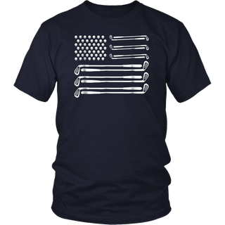 Golf Flag T-Shirt Golfing Ball Club 4th Of July Fathers Day Shirt