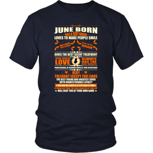 June Born Has A Sexy Brain Loves To Make People Smile T-Shirt