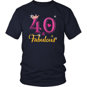 40 Fabulous Queen Shirt - 40th Birthday Gifts T-Shirt