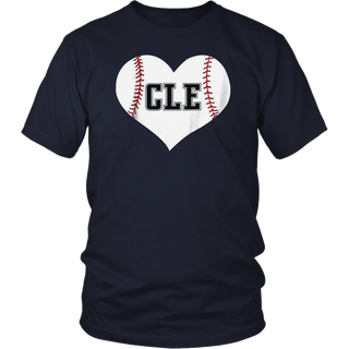 Cleveland Ohio Baseball Love Heart CLE Gift Jersey Fan