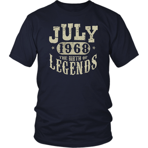 50 years Old 50th Birthday July 1968 Birth of Legend T-Shirt