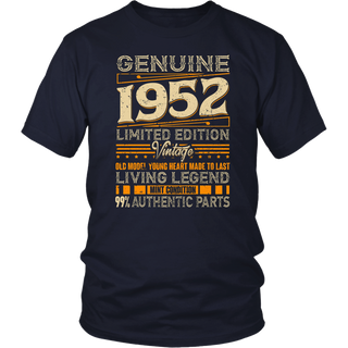 Vintage Genuine Made In 1952 66th Birthday Gift 66 years old T Shirt