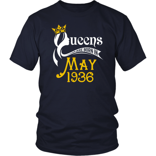 Queens Are Born In May 1936 - 82nd Birthday Gift T-Shirt