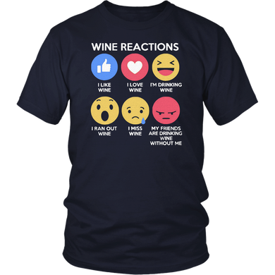 Wine Reactions T Shirt
