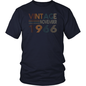 Retro Vintage November 1966 T Shirt 52nd Birthday Gift T-Shirt