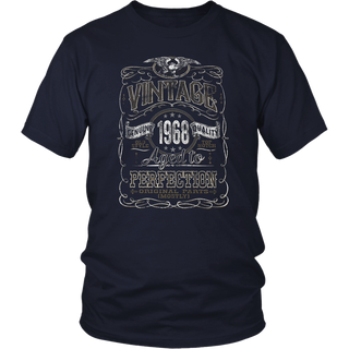 Vintage Aged Perfection 1968 - Distressed Print - 50th Birthday Gift T-Shirt