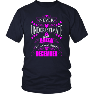 Never Underestimate A Black Queen Who Was Born In December T-Shirt