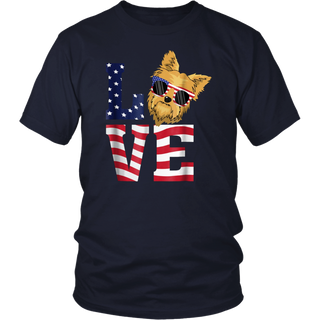Yorkshire Terrier Yorkie Dog Love - 4th Of July T-Shirt