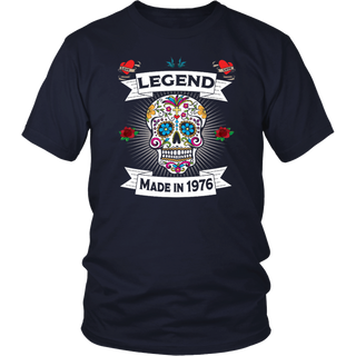 Sugar Skull Legends Are Born In 1976 - 41st Birthday Shirt
