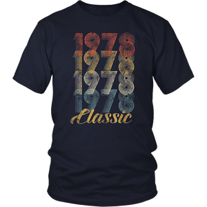 CuteComfy 40th Birthday Gift Vintage 1978 T-Shirt