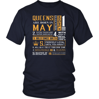 May Birthday Gifts - Queens are Born In May T-Shirt