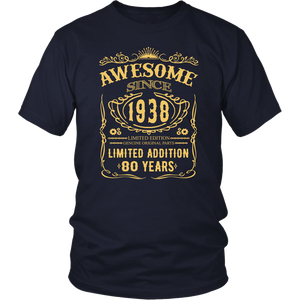 80th Birthday Shirt 80 Happy Eighty Years Old 1938 Tee
