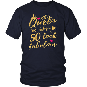 This Queen Makes 50 Look Fabulous 50th Birthday T-Shirt Women
