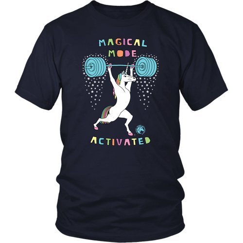 Magical Mode Activated Unicorn Version 2 Outline Men's Women's T Shirt