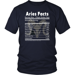 Aries Facts Shirt - Best Funny Shirt for Aries